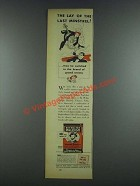 1937 Sir Walter Raleigh Tobacco Ad - The Last Minstrel