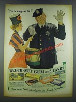 1937 Beech-Nut Gum and Candy Ad - Norman Rockwell