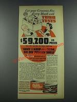 1937 Chicken of the Sea Fancy & White Star Tuna Fish Ad