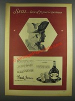1937 Paul Jones Whiskey Ad - Skill