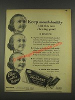 1937 Beech-Nut Oralgene Chewing Gum Ad - Mouth-Healthy