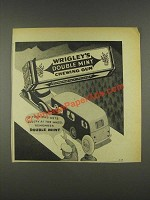 1937 Wrigley's Double Mint Chewing Gum Ad - Gets Sleepy