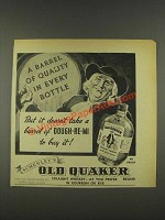 1937 Old Quaker Whiskey Ad - A Barrel of Quality