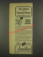 1937 Zonite Zonitors Ad - Safe Advice to Married Women