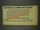 1937 Physical Culture Hotel Ad - The Resort