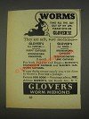 1937 Glover's Worm Medicines Ad - Take The Joy Out