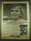 1936 Ipana Tooth Paste Ad - A Four-Year-Old Specialist