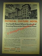 1936 Physical Culture Hotel Ad - Hundreds of Recoveries