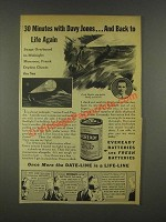 1936 Eveready Batteries Ad - 30 Minutes With Davy Jones