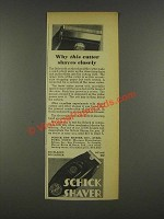 1936 Schick Shaver Ad - Why This Cutter Shaves Closely