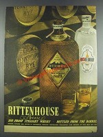 1935 Rittenhouse Square Rye Whisky & Dixie Belle Gin Ad