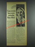 1935 Zonite Products Ad - Some Women Have Curiosity