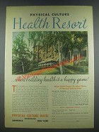 1935 Physical Culture Hotel Ad - Health Resort