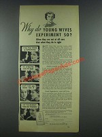 1935 Zonite Products Ad - Young Wives Experiment So