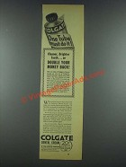 1935 Colgate Dental Cream Ad - One Tube Must Do It