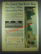 1935 Castle Heights Military Academy Ad - Builds Boys