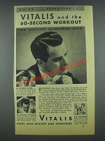 1935 Vitalis Hair Tonic Ad - 60-Second Workout