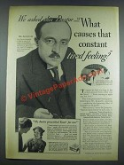 1933 Fleischmann's Yeast Ad - We Asked This Doctor