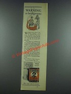 1933 Sir Walter Raleigh Tobacco Ad - Bridegrooms