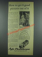 1933 Agfa Plenachrome Film Ad - Get Good Pictures