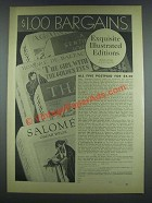 1933 Economy Educational League Books Ad, Salome, Thais