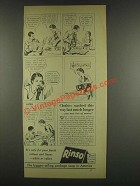 1933 Rinso Soap Detergent Ad - Clothes Washed This Way