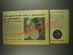 1933 Squibb Dental Cream Ad - Only 1/5 Protected?