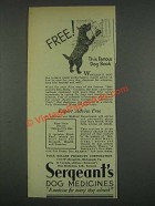 1933 Sergeant's Dog Medicines Ad - Famous Dog Book