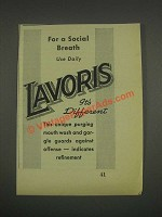 1933 Lavoris Mouth Wash Ad - For a Social Breath