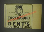 1933 Dent's Toothache Gum Ad - A Swell Affair