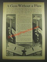 1932 Gem Razor Blades Ad - Without a Flaw