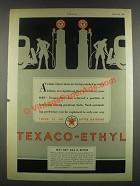 1932 Texaco Gasoline Ad - Values are Being Weighed