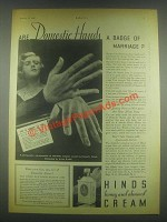 1932 Hinds Honey and Almond Cream Ad - Hands