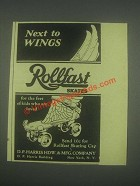 1932 Rollfast Roller Skates Ad - Next to Wing
