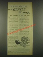 1931 Edgeworth Tobacco Ad - Gentle Words