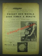 1931 Westclox Pocket Ben Watch Ad - Red Woodworth