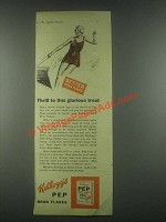 1931 Kellogg's Pep Bran Flakes Cereal Ad - Thrill