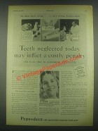 1931 Pepsodent Tooth Paste Ad - Teeth Neglected