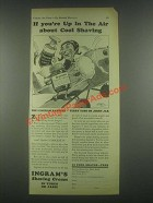 1931 Ingram's Shaving Cream Ad - Up In The Air