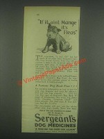 1931 Sergeant's Dog Medicines Ad - If It Aint Mange