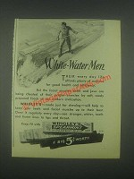 1931 Wrigley's Spearmint Gum Ad - White-Water Men