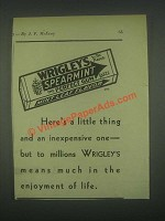 1931 Wrigley's Spearmint Gum Ad - Here's a Little Thing