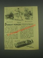 1931 Wrigley's Spearmint Gum Ad - Nature Man Science
