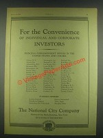 1930 National City Company Ad - For the Convenience