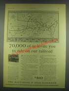 1930 The Baltimore & Ohio Railroad Ad - 70,000 of Us