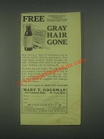 1930 Mary T. Goldman Ad - Gray Hair Gone