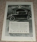 1923 Lafayette Car Ad, It Costs Little More!!