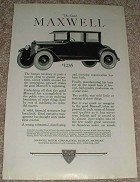 1923 Maxwell 4-passenger Coupe Ad - Push a Success!!