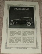 1923 Packard Single Six Touring Car Sports Model Ad!!