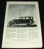 1928 Packard Single Eight Car Ad - Production!